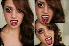 Vampire Halloween Tutorial | TVD Inspired! (Makeup, Hair & Outfit) (+pla...