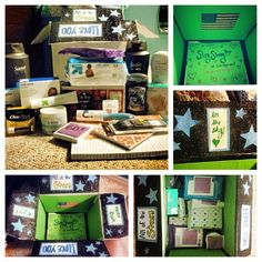 care package i made for andrew who is in basic training at the moment