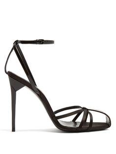 SAINT LAURENT | Freja crystal-embellished sandals #Shoes #Sandals #SAINT LAURENT