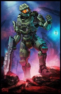 Halo Fan Art: 117 - Created by Aric Pratt