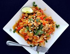 Spaghetti Squash Pad Thai with Chicken - My Fitness Pal