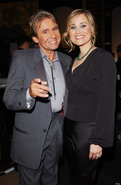 Very nice photo of Davy Jones (The Monkees) and Maureen McCormick (aka Marcia Brady) taken in 2003