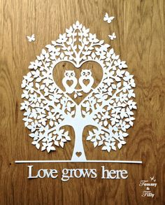 TEMPLATE 'Love Owl Tree' 2 different by TommyandTillyDesign                                                                                                                                                                                 More