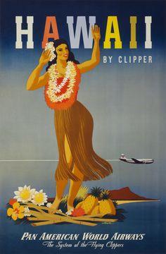 Hawaii-Vintage Poster