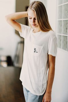 Brandy ♥ Melville   Ieva T-Rex Embroidery Top - Graphics