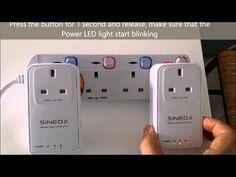 Resetting and Pairing Sineoji PL1800EP Gigabit HomePlug - YouTube