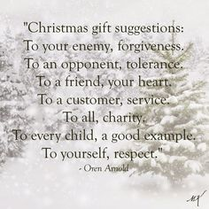 Christmas gift suggestions . . .