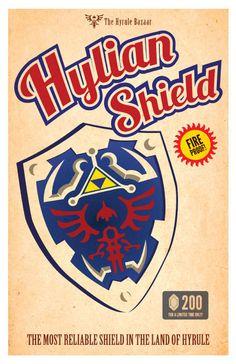 Zelda Bundle Pack, 4 posters. via Etsy.