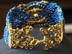 Bracelets – Constellation - macramé – a unique product by Bajobongo on DaWanda