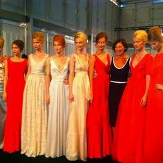 Minx models backstage after the Spring/ Summer 2013 show