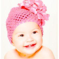 Elegant Baby Girls Flower Crochet Beanie Hat