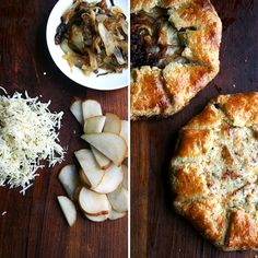 Fontina, Pear and Caramelized Onion Galette Recipe wisconsin cheese christmas appetizer food yum fontina holiday party