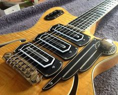 Koll Guitars Custom SuperGlide Almighty - Bakelite and silver appointments and Vintage Vibe Charlie Christian pickups