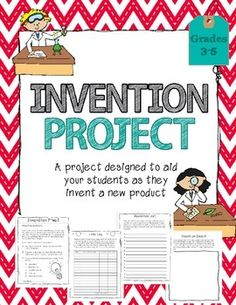 This project goes along great with an Inventors unit or unit on the Industrial Revolution.It is designed as a classroom or homework project to aid the students in designing their own invention. $