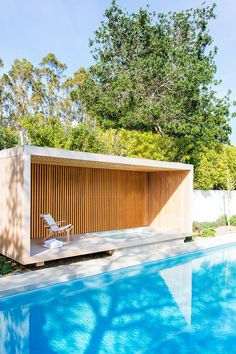 Modern pool house an