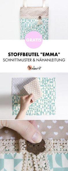 Gratis Anleitung: Einfachen Stoffbeutel selber nähen - Schnittmuster und Nähanleitung via Makerist.de