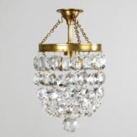 Vaughan Designs _ Flush fitting _ Roubion Chandelier - CL17/BR