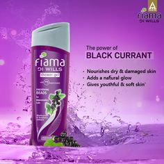 Enrich your skin with the amazing powers of black currant in the Fiama Di Wills Enlivening Beads shower gel!