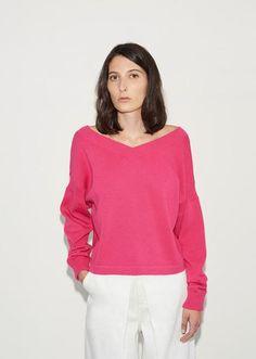 Wide V-Neck Sweater