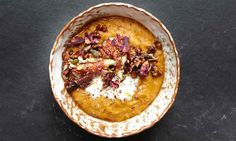 Pumpkin and almond milk porridge