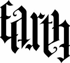 Earth ambigram, based on design by John Langdon . Illuminati, Ambigramm Tattoo, Tattoo Fonts, Calligraphy Tattoo, Word Tattoos, Body Art Tattoos, Tatoos, Anagram Words, Earth Air Fire Water