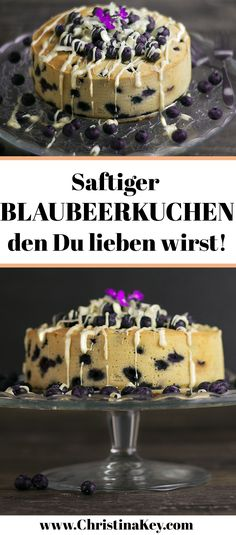 Saftiger Blaubeerkuchen mit weißer Schokolade Delicious recipe idea: Juicy blueberry cake with white chocolate - the gourmet recipe for all sweet tooths // Discover more recipes now on CHRISTINA Summer Desserts, No Bake Desserts, Summer Recipes, Gourmet Recipes, Cake Recipes, Bon Dessert, Blueberry Cake, Blueberry Chocolate, Cake Chocolate