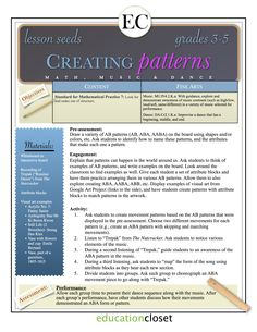 EducationCloset   Arts Integration and STEAM Professional Development – 4-8 Arts Integration Lessons