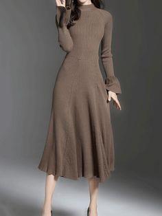 Waist Line: High-Waist; 60 Fashion, Vogue Fashion, Fashion Outfits, Fashion Design, Luxury Fashion, Winter Dresses, Day Dresses, Casual Dresses, Legging Outfits