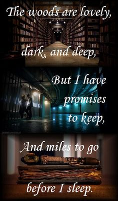 And miles to go before I sleep. Robert Frost poem. One of my favorites.