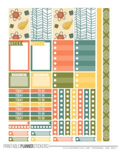Autumn Leaves Happy Planner Stickers for the the Happy Planner FREE