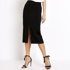 Michael Kors Collection Front-Slit Pencil Skirt