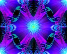 Wall Decor Abstract Art Purple Third Eye Chakra Reiki Energy Art