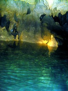1 of the New 7 Wonders of Nature. The Puerto Princesa Underground River in Palawan Philippines.