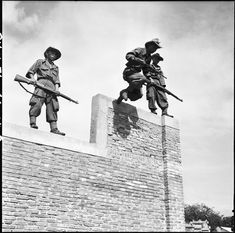 French; Young Vietnamese soldiers in training at Quang Tre going around the obstacle course. April '54. Armed with M1 Garands & M1 Carbines. By the end of the war most of the Colonial Battlalions and some of the Foreign Legion Battalions had Vietnamese trioops in their TOE. Many units had complete companies of Vietnamese.