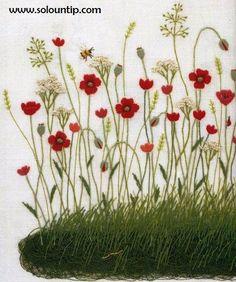Manualidades bordadas a Mano   Gráficosde bordado en flores,el bordar es un arte que sabemos que a muchas amigas les encanta y disfrutan...