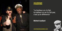 Citation de Michel #audiard rendant hommage à #chuck #Berry et #Lemmy de #Motorhead, deux génies du #rock disparus