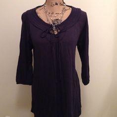 Top Navy blue jersey knit top Merona Tops Tees - Long Sleeve