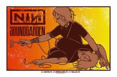 Nine Inch Nails & Soundgarden Jermaine Rogers Texas and California Posters