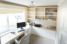 Home offices have become all the rage and we love working on fitted office furniture projects, read all about our bespoke furniture here. Home Office Furniture Design, Built In Furniture, Office Interior Design, Bespoke Furniture, Furniture Projects, Furniture Makeover, Home Office Layouts, Home Office Space, Office Ideas