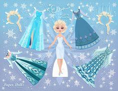 Frozen-Paper-Doll-Summer-Style-Elsa.jpg (2048×1582)