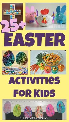 25+ easter activities for kids + link up YOUR posts for kids 5 and under for a chance to be featured on Tuesday Tots next week!