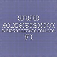 www.aleksiskivi-kansalliskirjailija.fi Weather, Weather Crafts