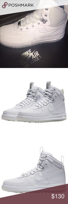 Lunar Air Force 1 Duckboots! Boy! These are so Lit!!! If I don't sell I'm keeping or buying another!! They are Size 6Y. These are so comfy and made to be warm!! Nike Shoes Sneakers