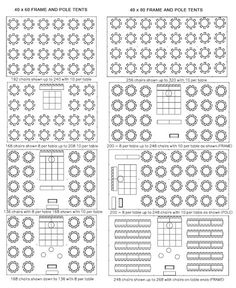 Suggested layouts for a wedding tent space two different sizes  sc 1 st  Pinterest & 24 Best Tent Capacity images | Wedding ideas Wedding reception ...