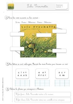 Lulu vroumette CE1 Album, Education, Cycle, Lectures, French, Clothes, Readers Workshop, 1st Grades, Kleding