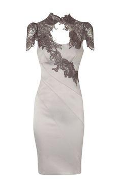 KAREN MILLEN FLORAL LACE APPLIQUE FITTED PENCIL DRESS SIZE 10/12 in Clothes, Shoes & Accessories, Women's Clothing, Dresses | eBay