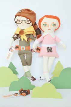 Sam & Suzy dolls Moonrise Kingdom Raccoon by MandarinasDeTela . Mandarinas de Tela #mandarinasdetela