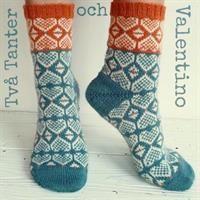 Två Tanter och Valentino / terrakotta sockpaket