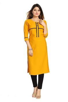 643ad7ee6e ALC Creation Women s Crepe A-Line Kurti  Amazon.in  Clothing  amp