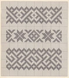 """patterns and stitches"" – It Was A Work of Craft - knitting charts Crochet Mandala Pattern, Bead Crochet Patterns, Tapestry Crochet, Loom Patterns, Beading Patterns, Embroidery Patterns, Cross Stitch Geometric, Cross Stitch Borders, Cross Stitch Designs"